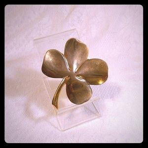Brass 4-Leaf Clover